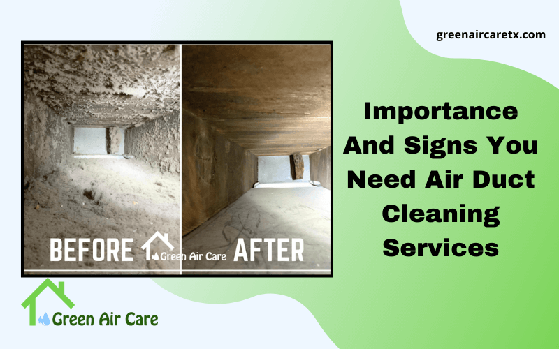 Importance And Signs You Need Air Duct Cleaning Services